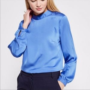NWT Banana Republic Blue Blouse Size M